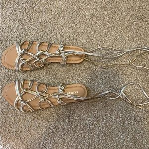 Gold & Silver Strappy Express Sandals
